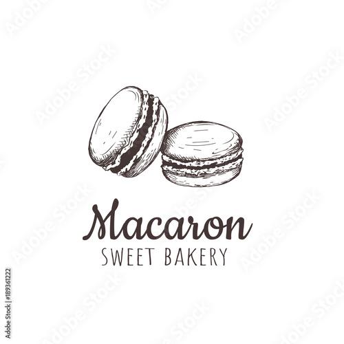 Aluminium Prints Macarons Macaron, macaroon, Macaron sketch hand drawing.