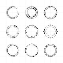 Futuristic Ui Circle Elements ...