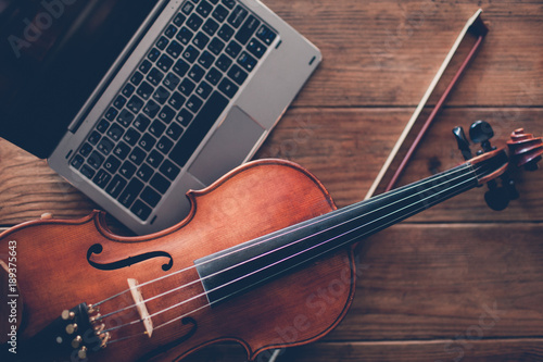 Fototapeta online violin play teaching courses