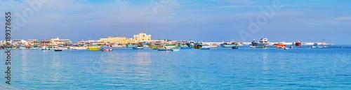 Photo The Mediterranean seascape in Alexandria, Egypt