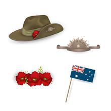 Set Of Australian Flag, Anzac ...