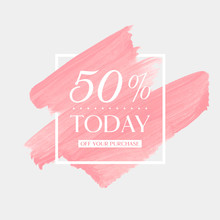 Today Sale 50% Off Sign Over A...