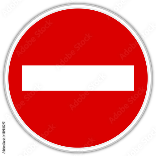Fotografía Panneaux interdit - Signalisation - Icone de signalisttion