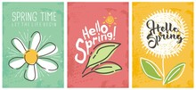 Hello Spring Seasonal Banners ...