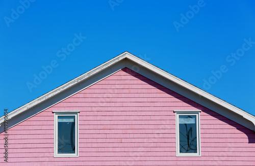 Fotografia, Obraz  Pale pink roof top in Magdalein island