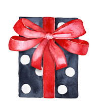 Holiday Gift Box, Black And Wh...