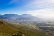 canvas print picture - Franschhoek vineyard landscape, South africa panorama