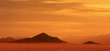 canvas print picture - Red planet. Sunset on Mars