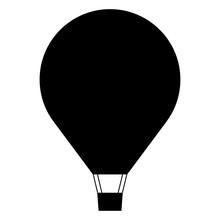 Hot Air Balloon Icon, Minimal ...