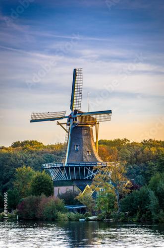 Poster Molens Dutch Windmill Kralingen, Rotterdam, Holland