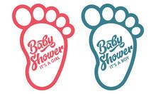 Baby Foot Baby Shower Invite G...