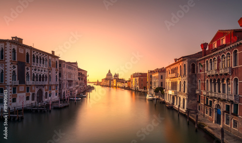 Fototapety, obrazy: Venice grand canal, Santa Maria della Salute church landmark at sunrise. Italy