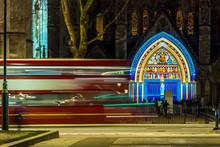 Illuminated Westminster Abbey ...