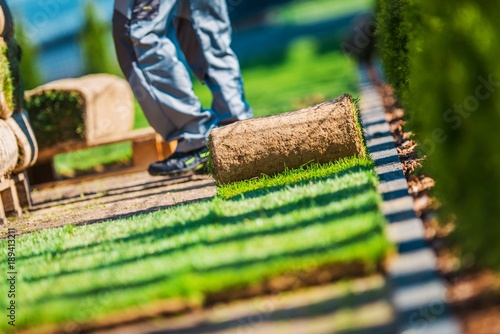 Papiers peints Jardin Grass Turfs Installation Work