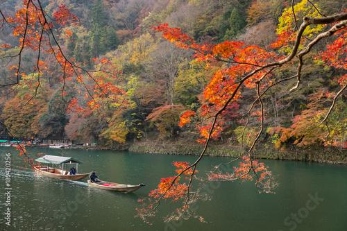 Poster Kyoto Arashiyama town at kyoto in autumn