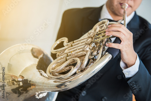 French horn music instrument orchestra classic hornist and