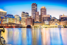 The Boston Skyline At Night, L...