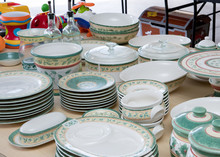 Collection Of Matching Dishes ...
