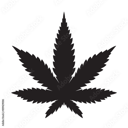 Weed Marijuana cannabis leaf vector icon logo illustration Tapéta, Fotótapéta