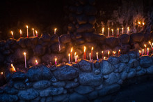 Candles Burning For Religious ...