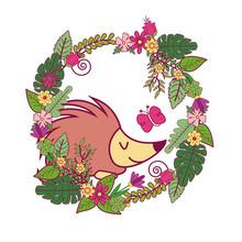 Animals On Spring Cartoon Icon...