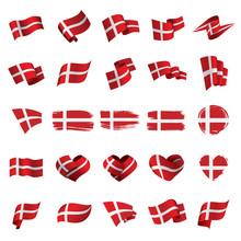 Denmark Flag, Vector Illustrat...