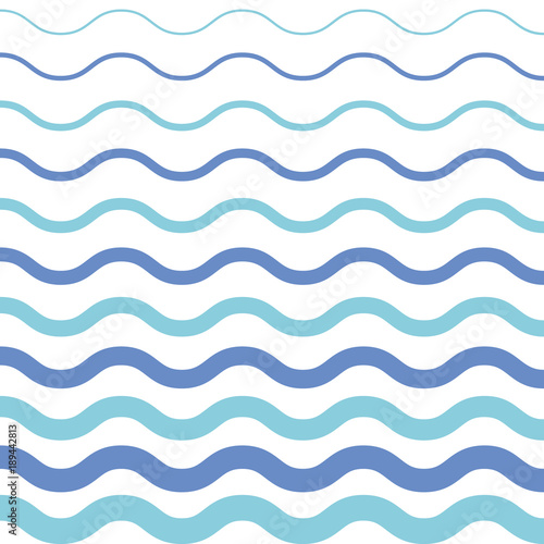 Pattern On White Background Blue Light And Dark Wave