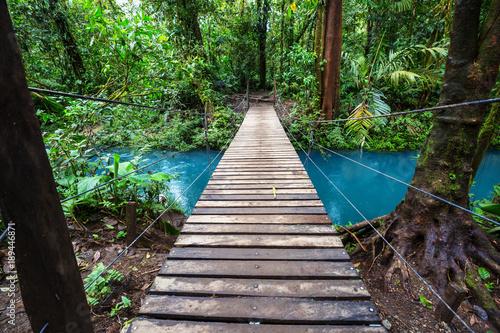 Foto auf Gartenposter Bridges Bridge in Costa Rica