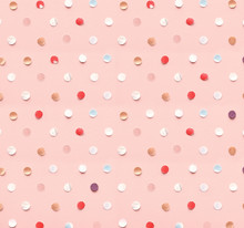 Polka Dot Pattern Made Of Conf...