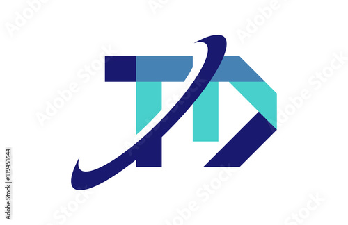 Td Ellipse Swoosh Ribbon Letter Logo Buy This Stock Vector And