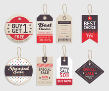 Price Tags Label Design Set. V...