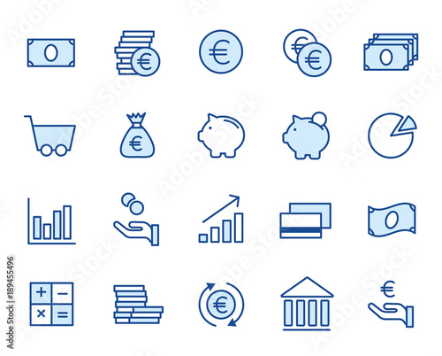 Canvastavla Finance Icon Set