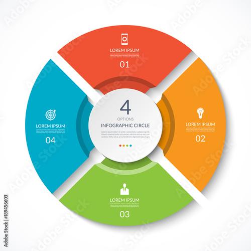 Infographic circle Tapéta, Fotótapéta