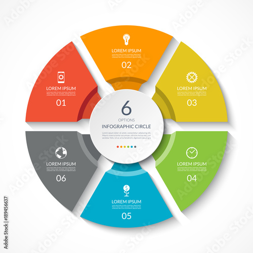 Photographie  Infographic circle