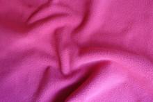 Rippled Bright Ruby Red Polar Fleece Fabric