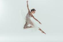 Beautiful Ballet Dancer In Whi...