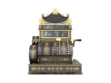 Old Vintage Cash Register 3d R...