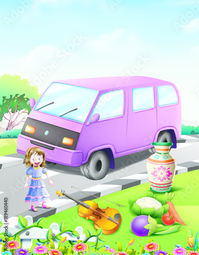 Recess Fitting Cars alphabets