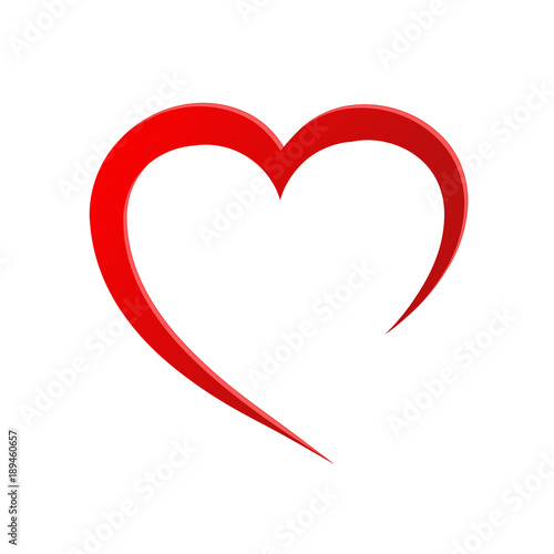 heart love romatic passion icon. Isolated and flat illustration. stock vector graphic