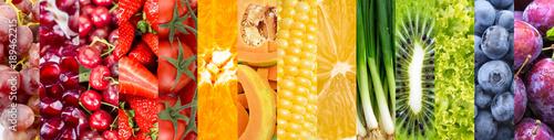 Çeşitli meyve ve sebzelerden oluşan kolaj © Esin Deniz