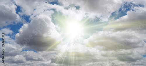 Fotografie, Tablou  Shining sun in the clouds