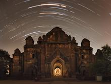 Beautiful Night Sky View Of Dhammayangyi Temple, Bagan, Myanmar