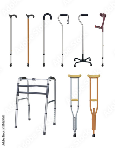 Fotografija Canes, crutches and walkers
