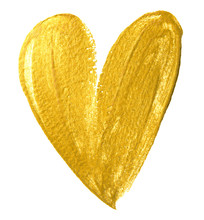 Valentine Heart Gold Paint Bru...