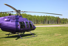 Aircraft - Purple Helicopter Side View