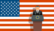 United States President And Flag