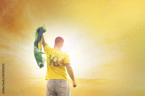 Garden Poster Brazil Men with brazilian soccer