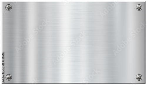 Poster Metal stainless metal plate with screw nail heads