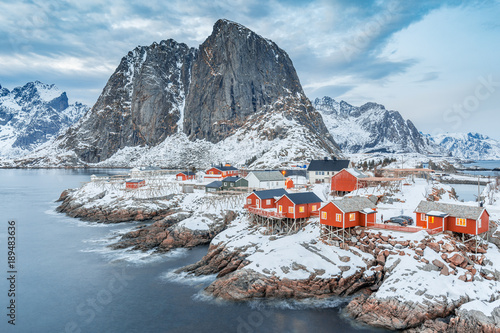 Lofoten Islands, Northern Norway. Winter landscape
