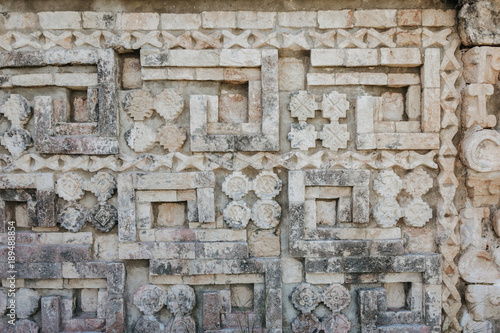 Mayan stone carvings in uxmal mexico buy this stock photo and
